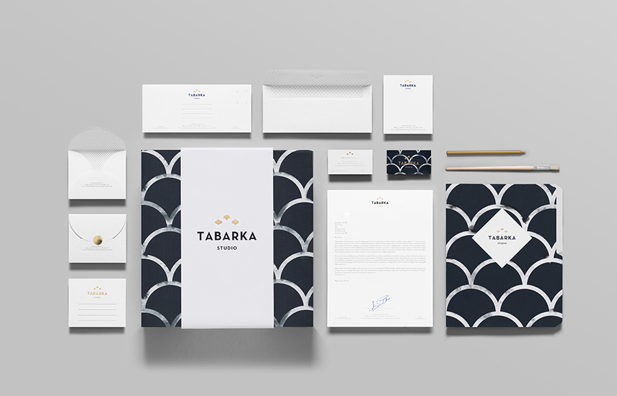 Logo and stationery design by Anagrama for handcrafted terracotta tile specialist Tabarka Studio