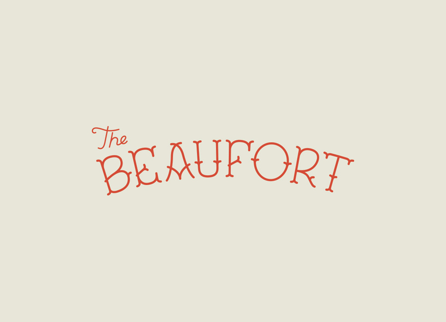 Logo for Melbourne-based themed dive bar The Beaufort, designed by The Company You Keep
