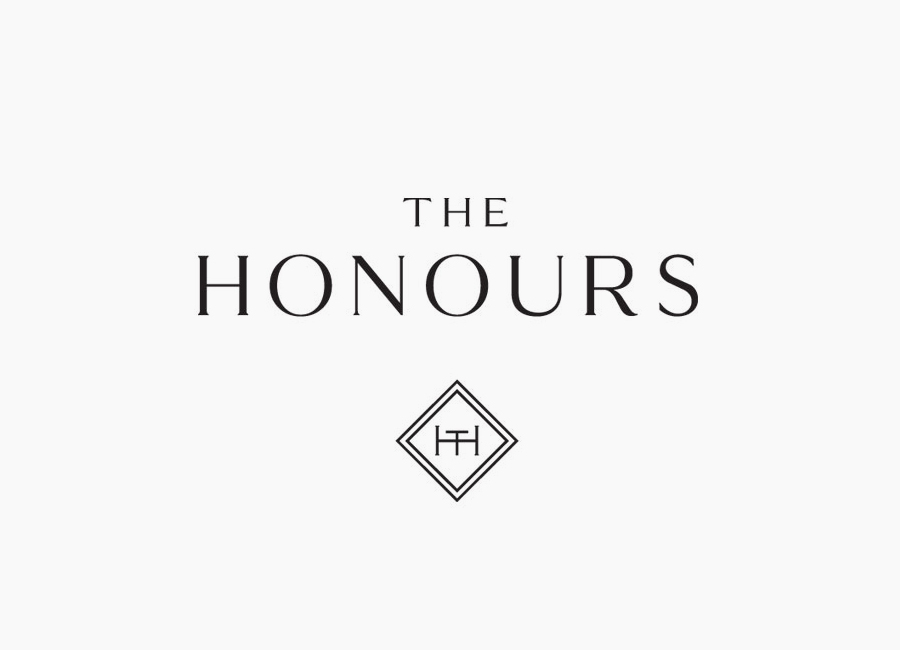 Logo for Edinburgh-based and Parisian-influenced brasserie The Honours designed by Touch