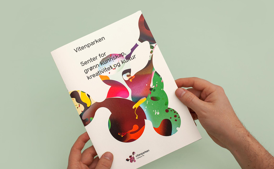Logo and print created by Bielke+Yang with illustration by MVM for science centre Vitenparken