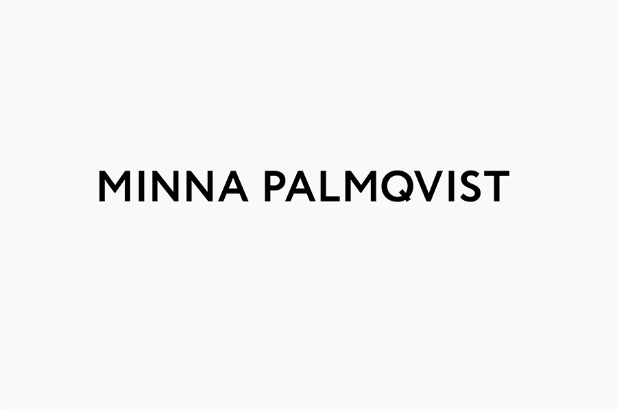 Logotype designed by Bedow for fashion designer and label Minna Palmqvist