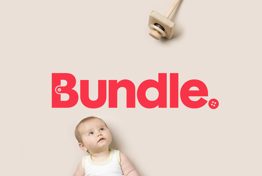 Logo designed by The Company You Keep for curated mum-to-be hospital bag service Bundle