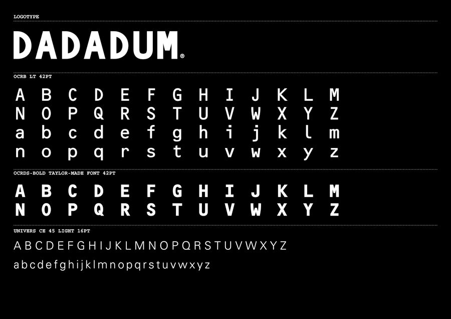 Logotype and custom typography created by Demian Conrad Design for Swiss contemporary furniture design and manufacturer Dadadum
