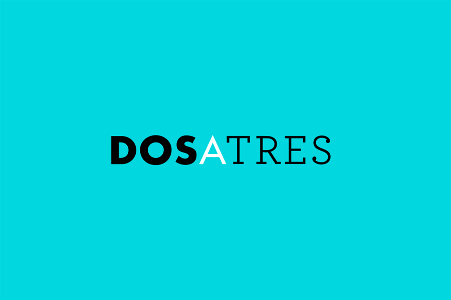 Logotype designed by Comite for business and brand communication consultancy Dosatres