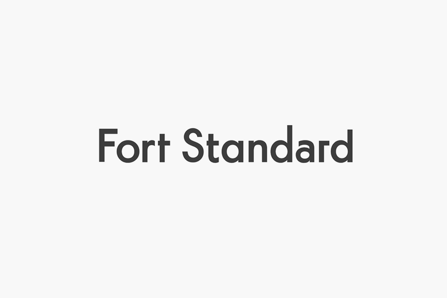 Logotype for industrial design studio Fort Standard designed by Studio Lin