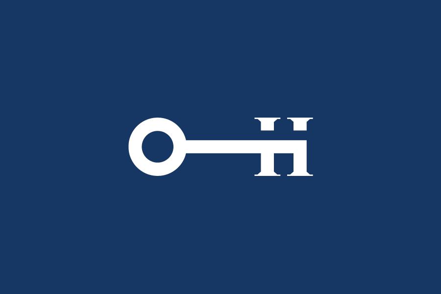 Logo designed by Moffitt.Moffitt for Sydney furniture and homeware retailer Hamptons House