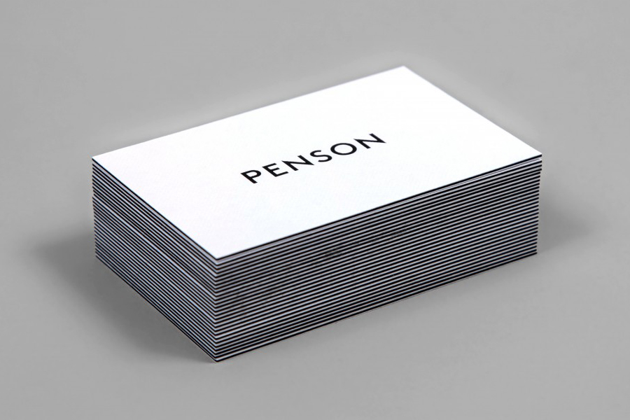 Logotype for interior design firm Penson Group created by She Was Only