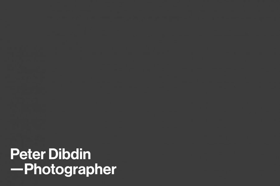 Logotype designed by O Street for photographer Peter Dibdin