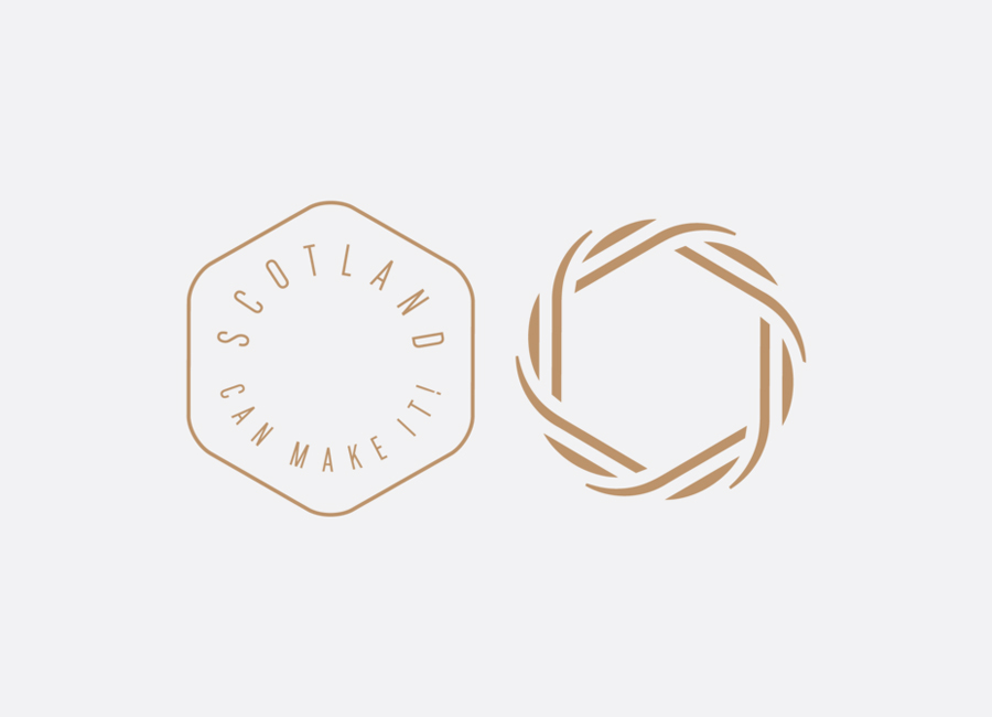 Logos for Commonwealth Games souvenir range Scotland Can Make It! by Graphical House