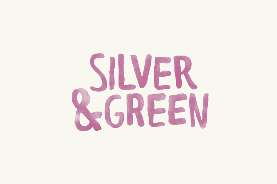 Hand written logotype designed by Salad Creative for UK based Mediterranean delicacy producer, importer and wholesaler Silver & Green