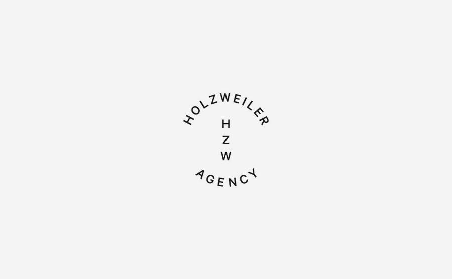 Logotype designed by Bielke+Yang for contemporary fashion distributor Holzweiler