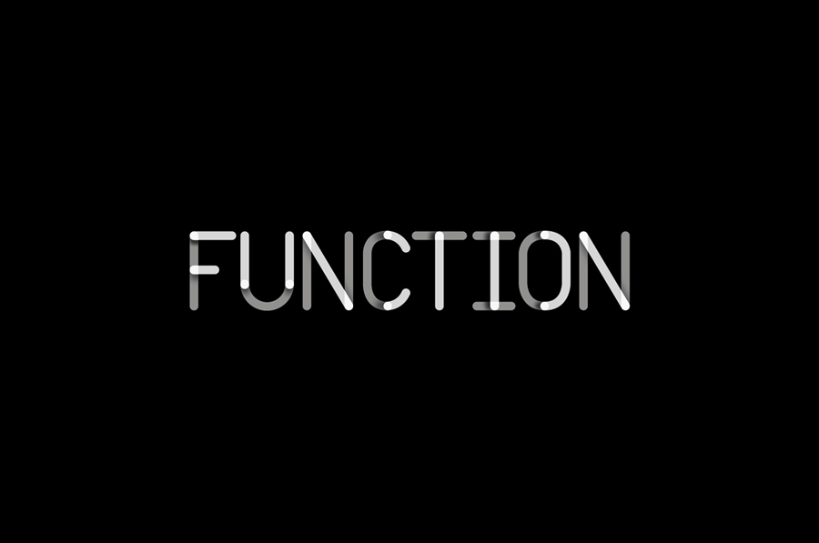 Logotype for Function Engineering designed by Sagmeister & Walsh