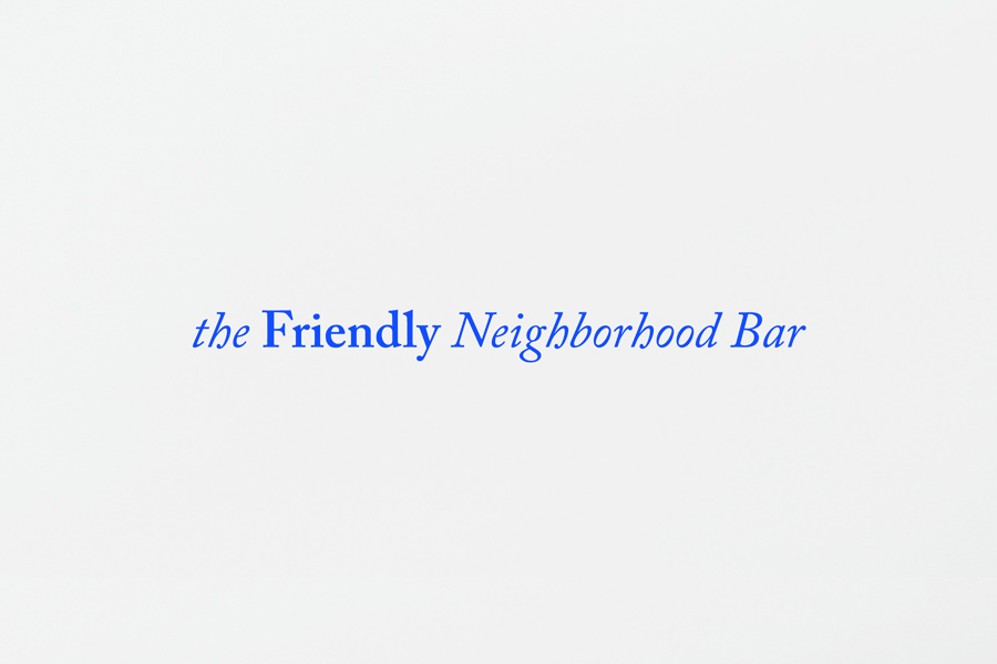 Strapline by Savvy for neighbourhood bar Gomez