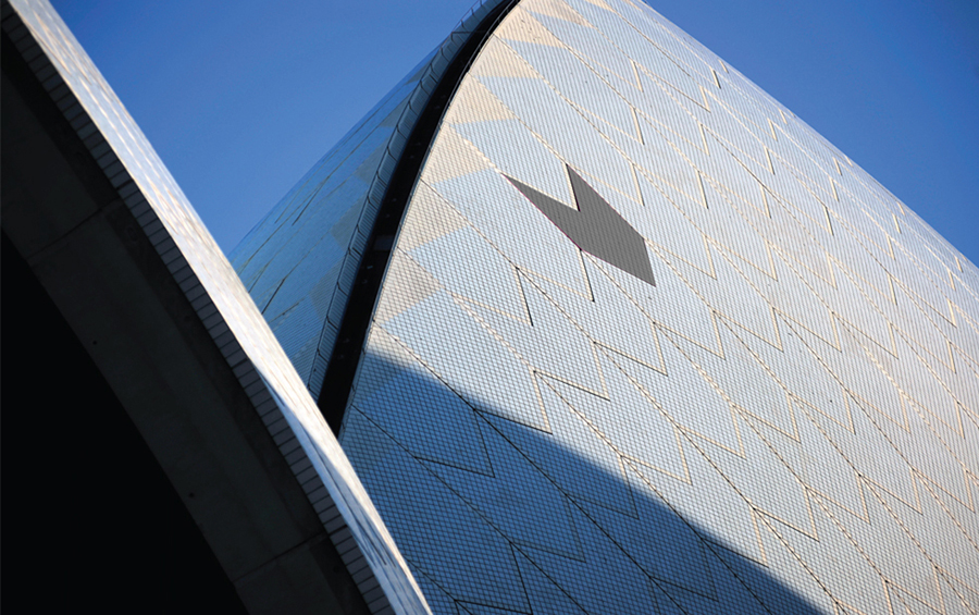 Logo inspiration drawn from Sydney Opera House's tiles