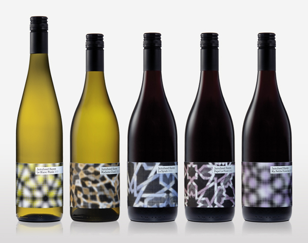 Packaging for limited edition wine collection Jamsheed Harem designed by Cloudy Co.