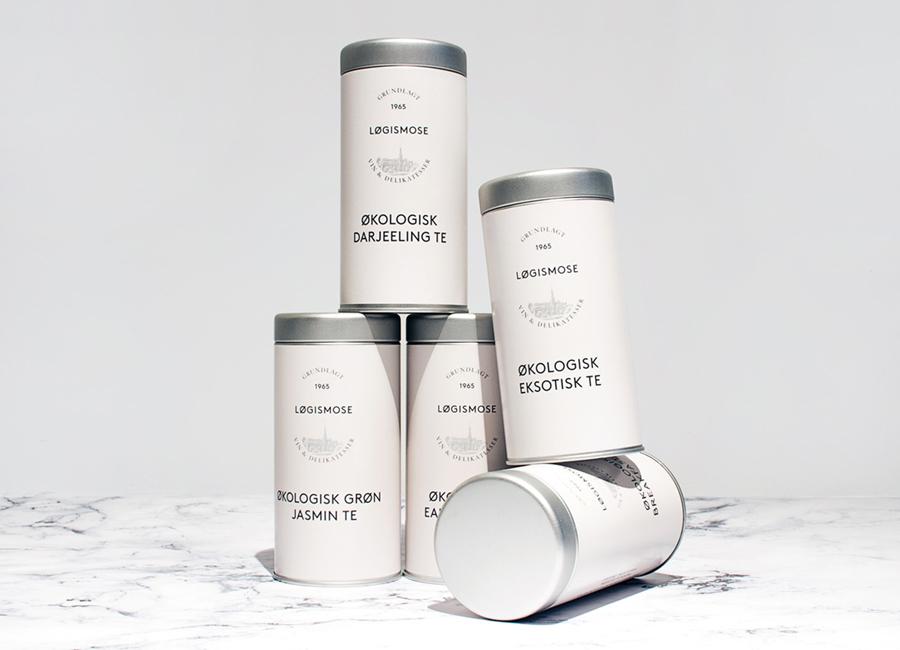 Tea packaging by Homework for Løgismose