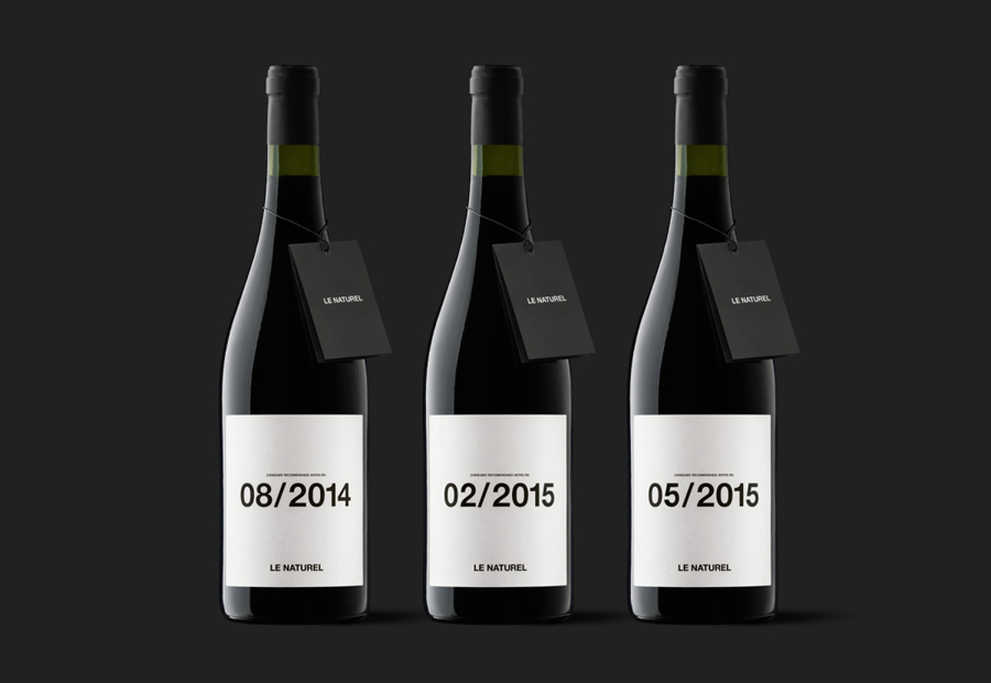 Wine packaging designed by Moruba for Le Naturel