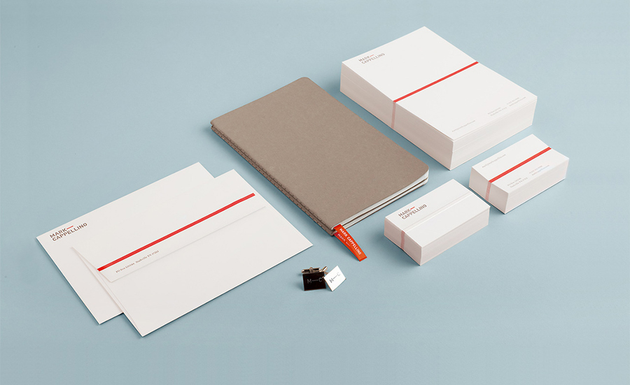 Logo and stationery design by Perky Bros for leadership consultant Mark Cappellino