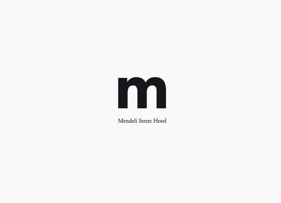 Logo created for Tel aviv hotel Mendeli Street designed by Koniak