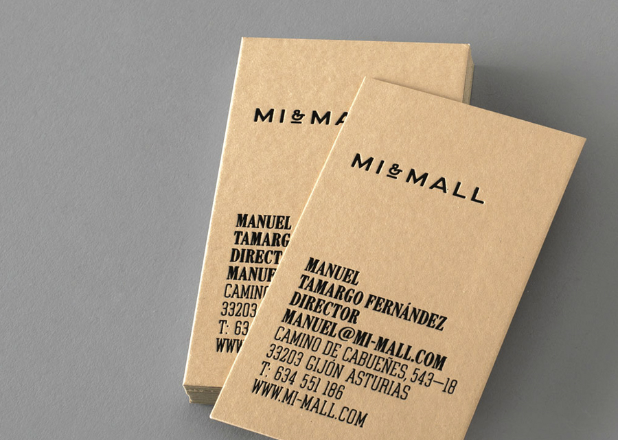 Logo And Letterpress Stationery Design By Atipo For Mi Mall