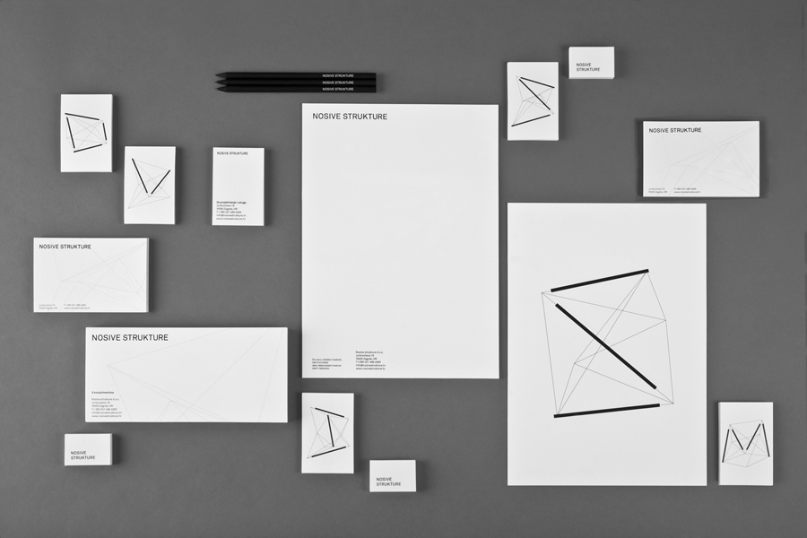 Logo and stationery for structural engineering firm Nosive Strukture designed by Bunch