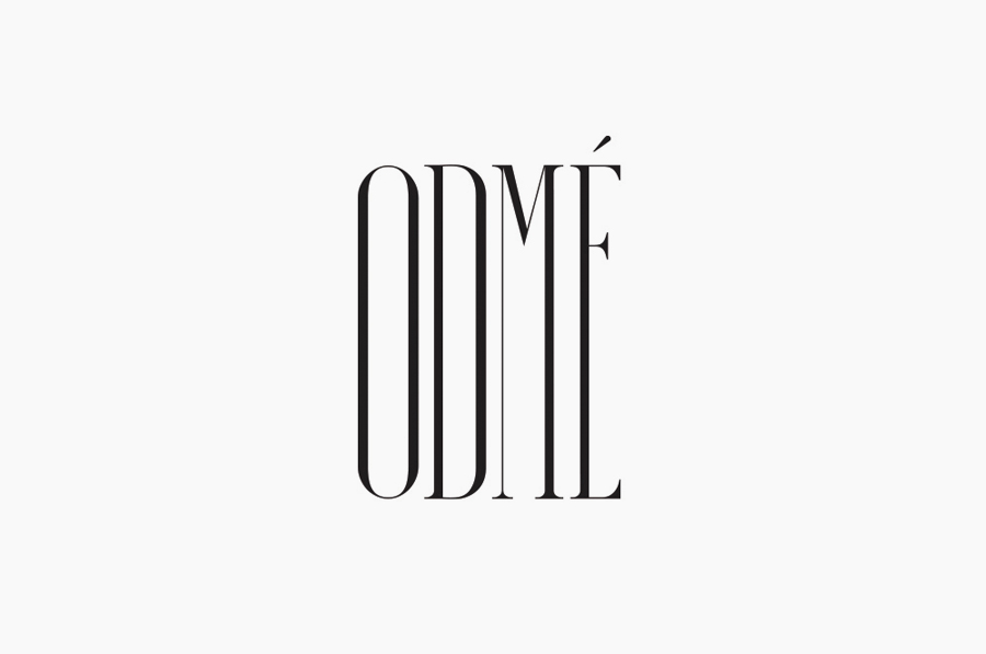 Condensed serif logotype designed by Two Times Elliott for Paris accessory brand Odmé