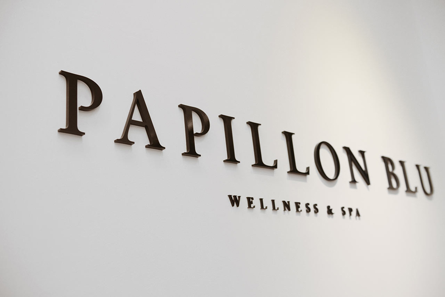 Logotype designed by Sciencewerk for Indonesian spa Papillon Blu