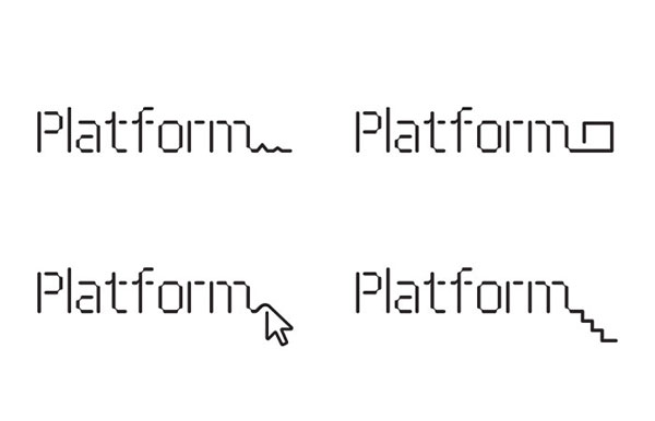 Logotype designed by Pentagram for not-for-profit, technology and entrepreneurship organisation Platform