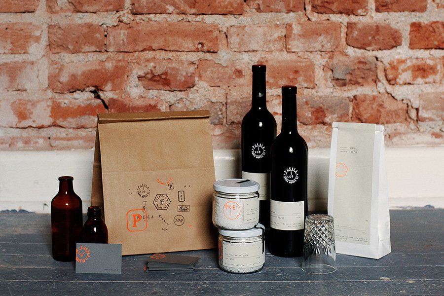 Brand identity and packaging by Savvy for art, design and gastronomy experience Puebla 109