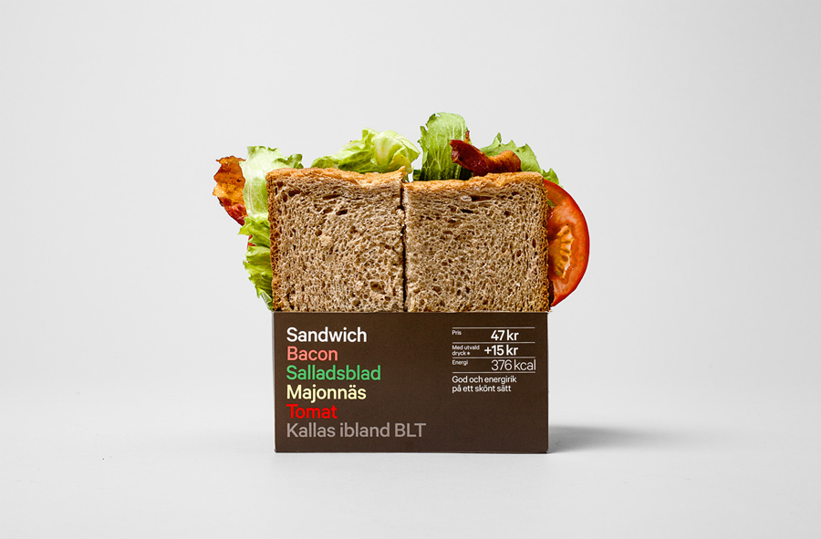 Sandwich packaging designed by BVD for 7-Eleven Sweden