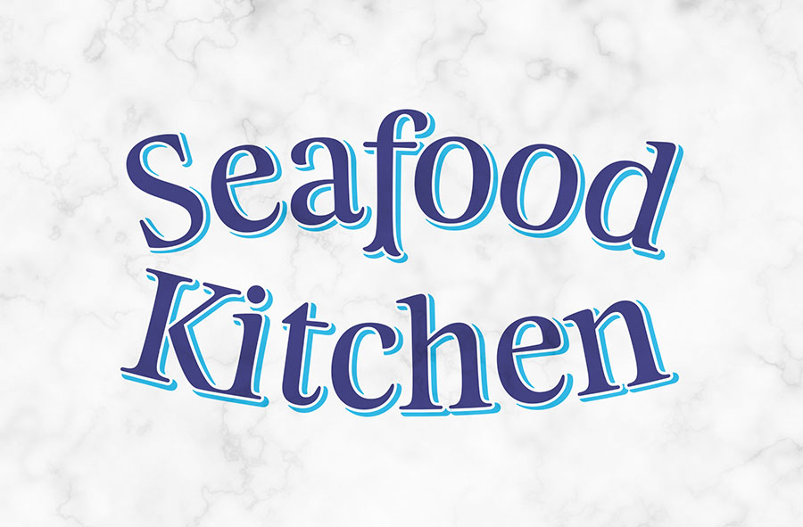 Logotype designed by Co Partnership for Seafood Kitchen