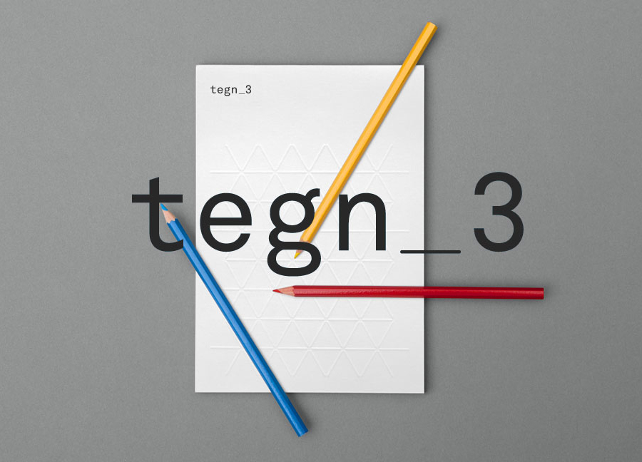 Logo designed by Neue for Norwegian architecture studio Tegn_3
