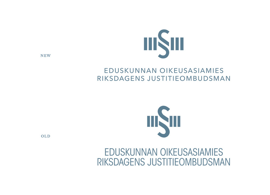 Revised logo and logotype by Werklig for The Parliamentary Ombudsman of Finland