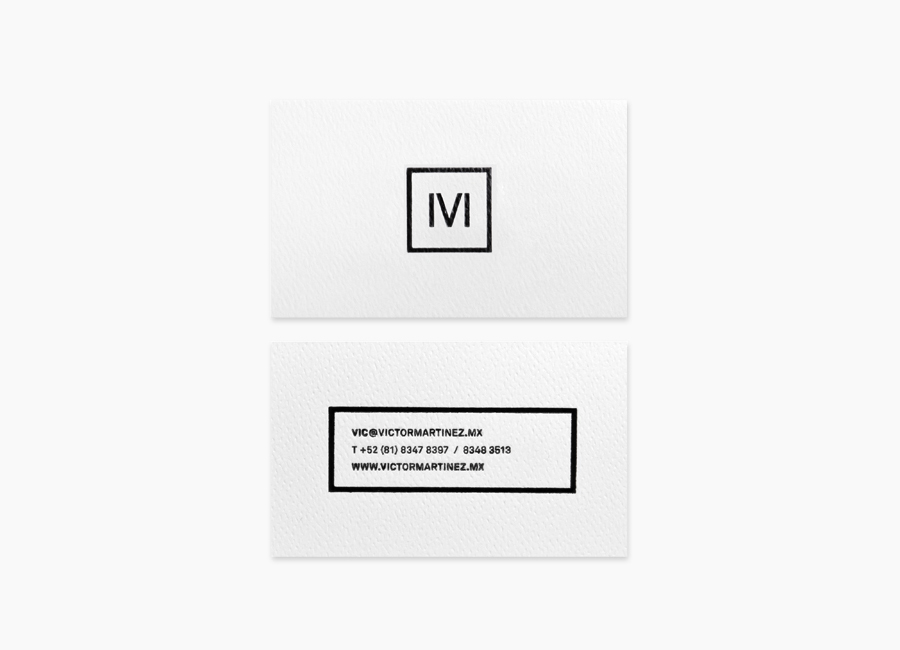 Logo and business card designed by Face for architect and studio founder Victor Martinez