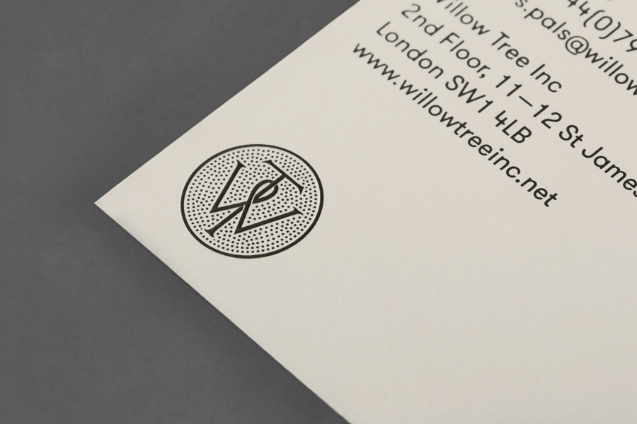 Logo and stationery design by Bunch for business consultancy Willow Tree