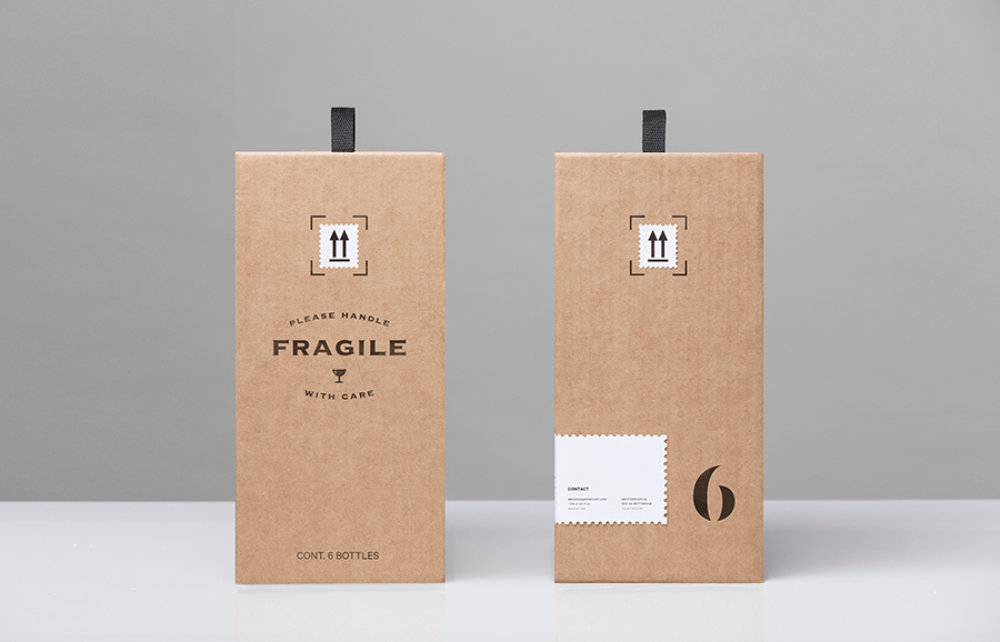 Packaging designed by Anagrama for online wine-tasting, curation and delivery service Winecast