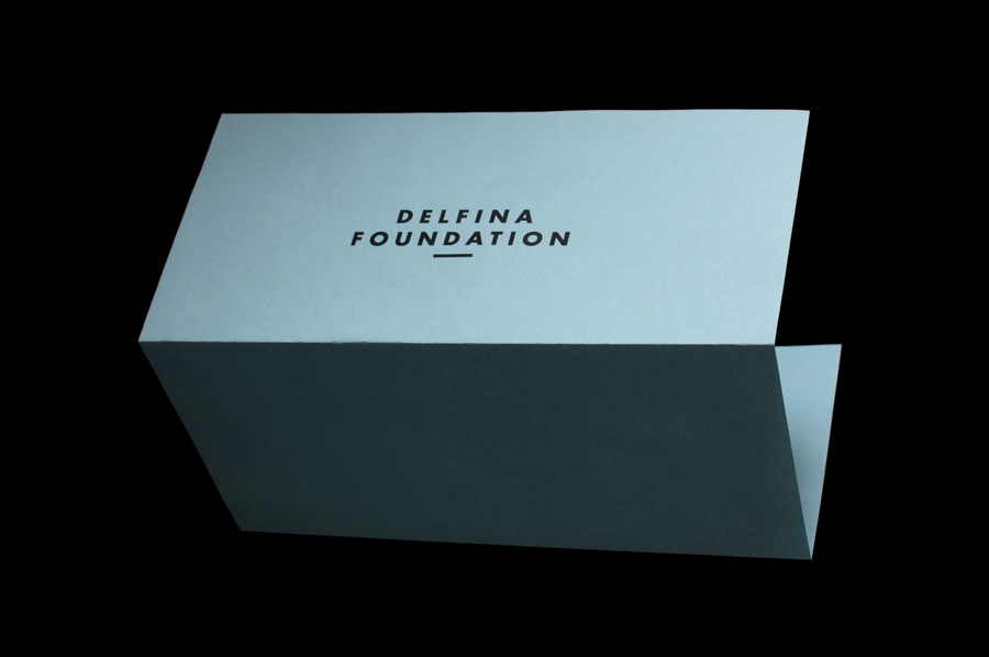 Logo and headed paper designed by Spin for creative exchange and artistic development network Delfina Foundation