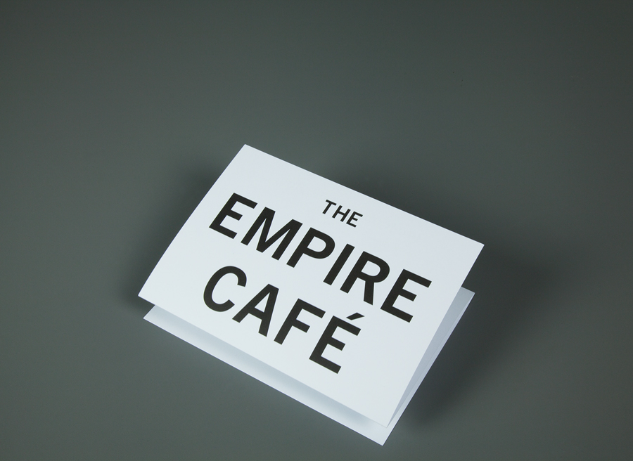 Logotype and print designed by Graphical House for The Empire Café