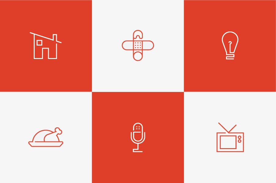 Icons designed by Apartment One for dad-centric parenting media platform Fatherly