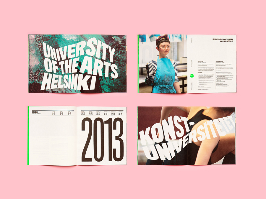 Print designed by Bond for the University of the Arts Helsinki
