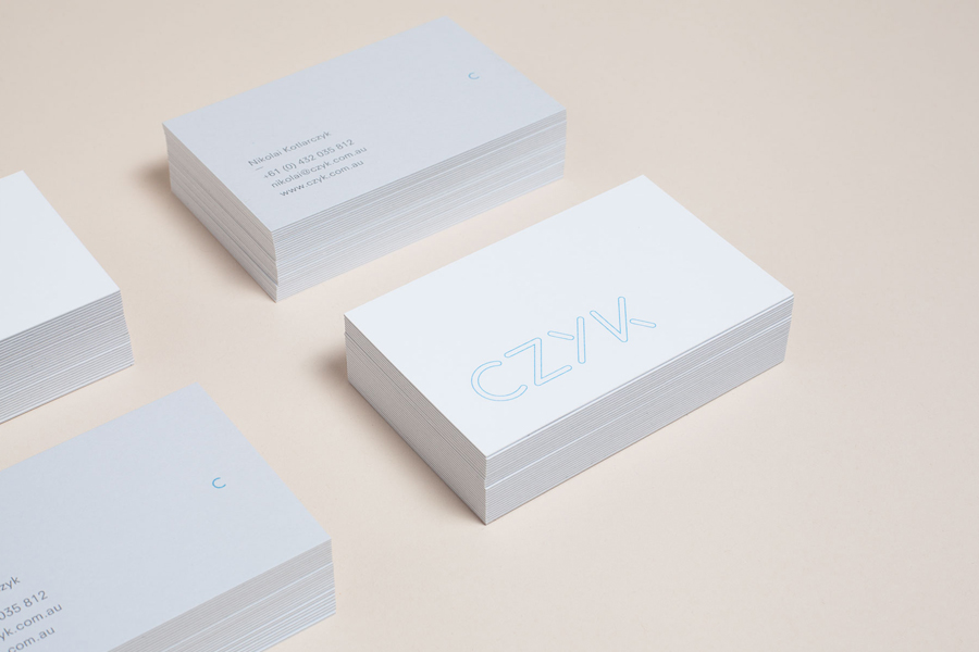 Logo and business card designed by Longton for industrial design practice CZYK