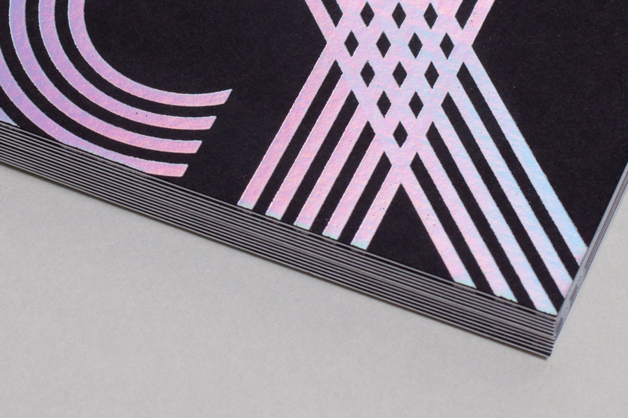 Duplex business card with holographic foil print finish by Build for Chris Allen