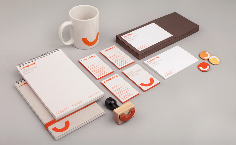 Logo and stationery designed by Perky Bros for Cloudberry
