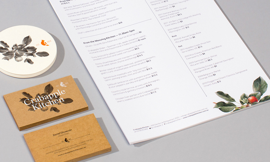 New Brand Identity For Crabapple Kitchen By Swear Words Bp O