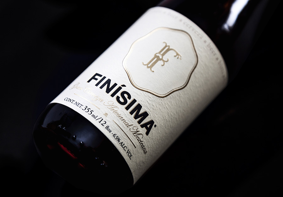 Packaging designed by Savvy for premium craft beer label Finísima