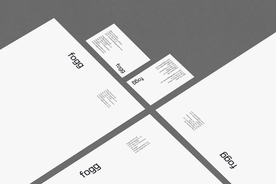 Logotype and stationery created by Kurppa Hosk and Bunch for international fixed cost mobile data traffic service Fogg