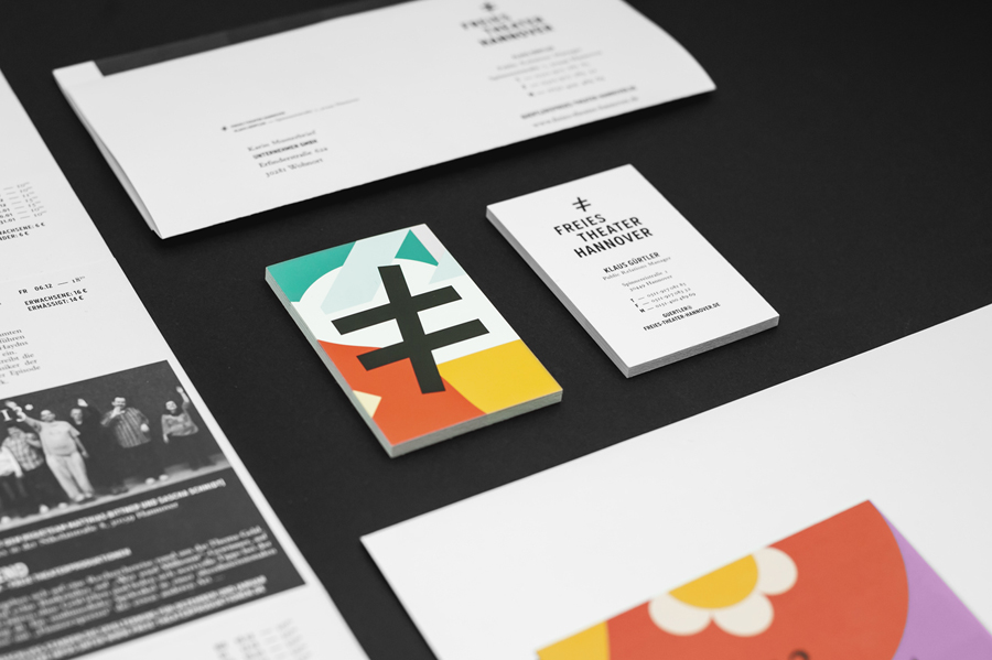 Stationery with bright illustrative detail for Freies Theater Hannover by Bureau Hardy Seiler
