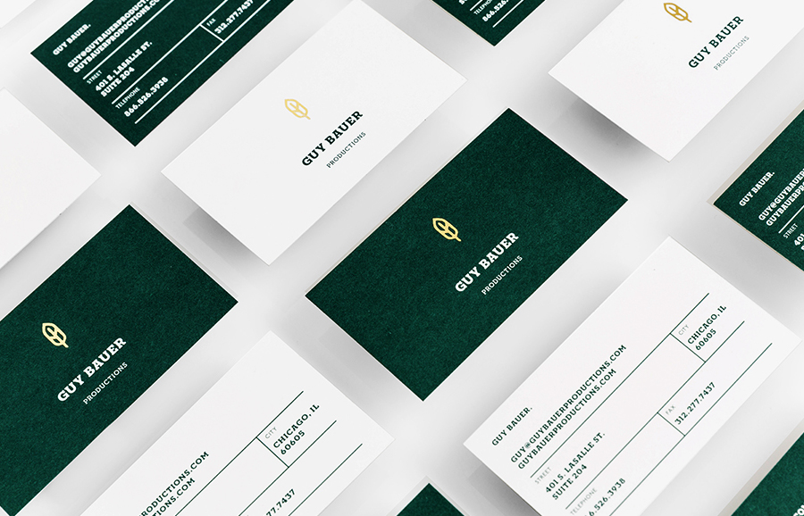 Logo and business card design by Anagrama for Guy Bauer