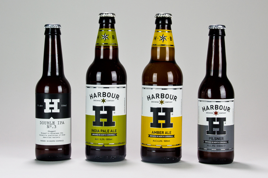 Branding and packaging design by A-Side Studio for Harbour Brewing Co.