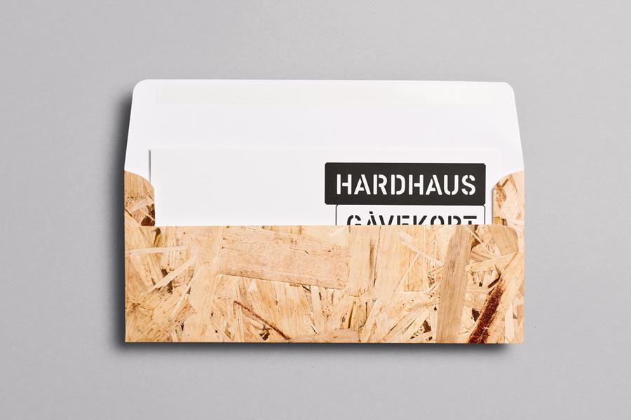 Logotype and envelope designed by Heydays for mountain sports retailer Hardhaus